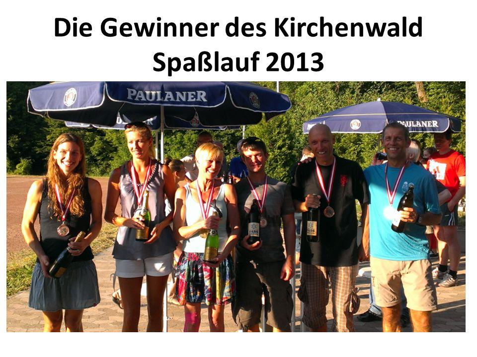 Die Gewinner des Kirchenwald Spaßlauf 2013