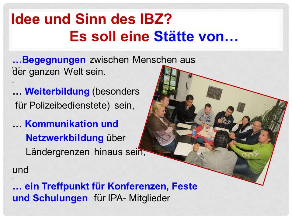 Idee und Sinn des IBZ.