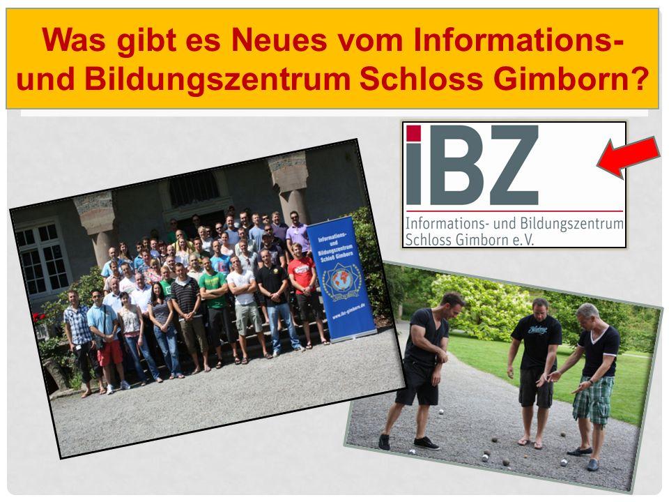 Was gibt es Neues vom Informations- und Bildungszentrum Schloss Gimborn