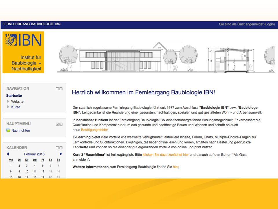 Fernlehrgang Baubiologie als online und Print-Version