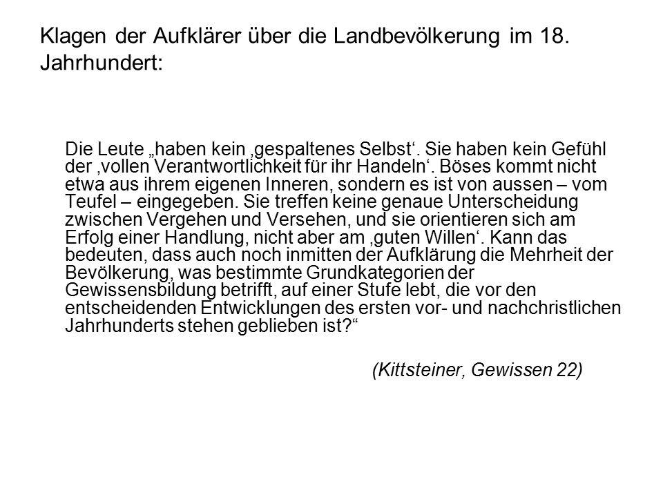 Klagen der Aufklärer über die Landbevölkerung im 18.