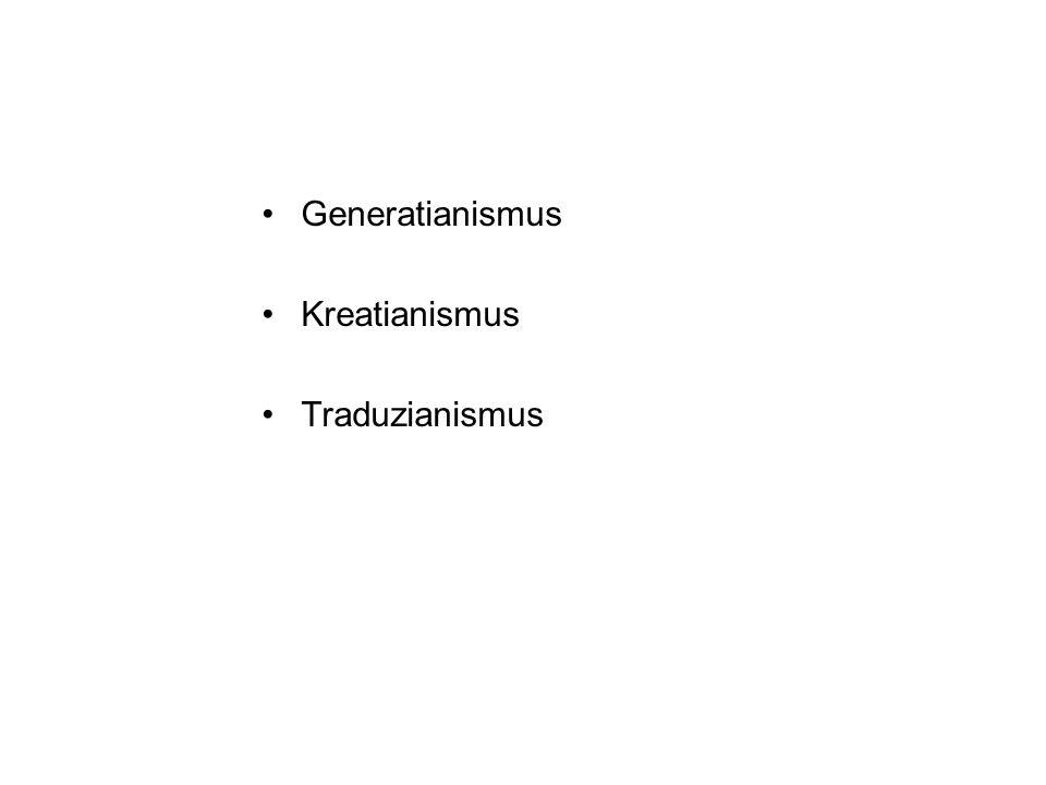 Generatianismus Kreatianismus Traduzianismus