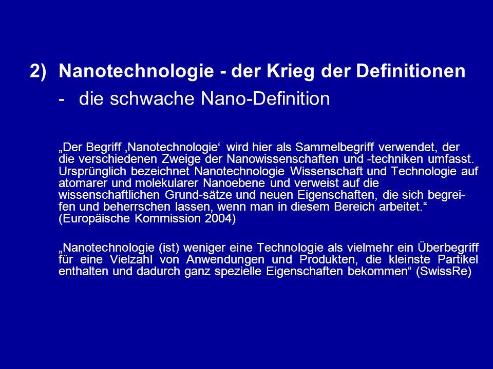 """6)Nanotechnologie in Marburg: von der Integral Science zum Integral Business the """"Marburg case of nanotechnology (II) - Scheinprobleme angewandter Ethik"""