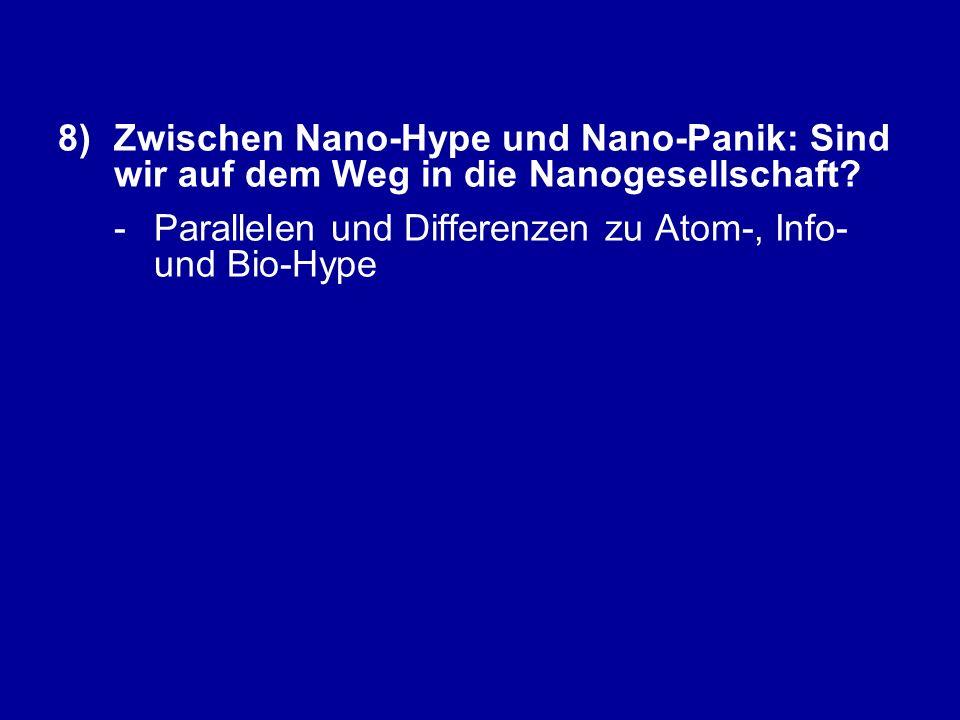 8)Zwischen Nano-Hype und Nano-Panik: Sind wir auf dem Weg in die Nanogesellschaft.