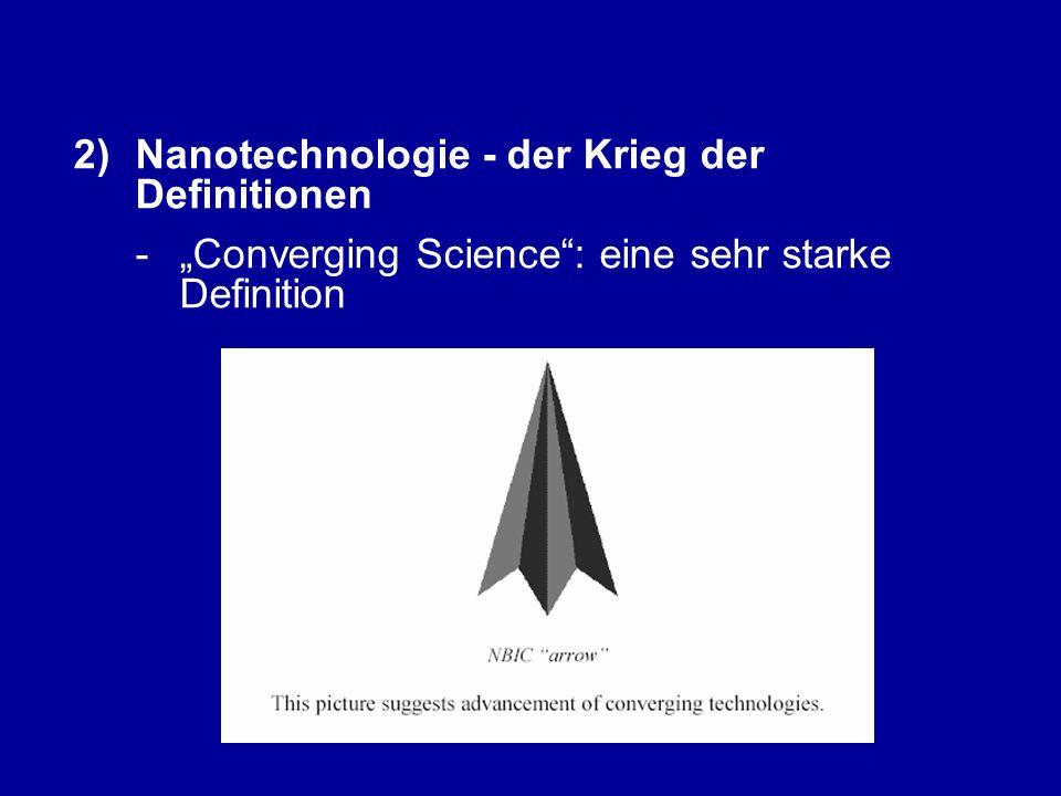 """2)Nanotechnologie - der Krieg der Definitionen - """"Converging Science : eine sehr starke Definition"""