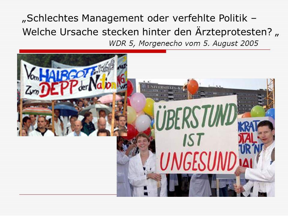 """""""Schlechtes Management oder verfehlte Politik – Welche Ursache stecken hinter den Ärzteprotesten."""