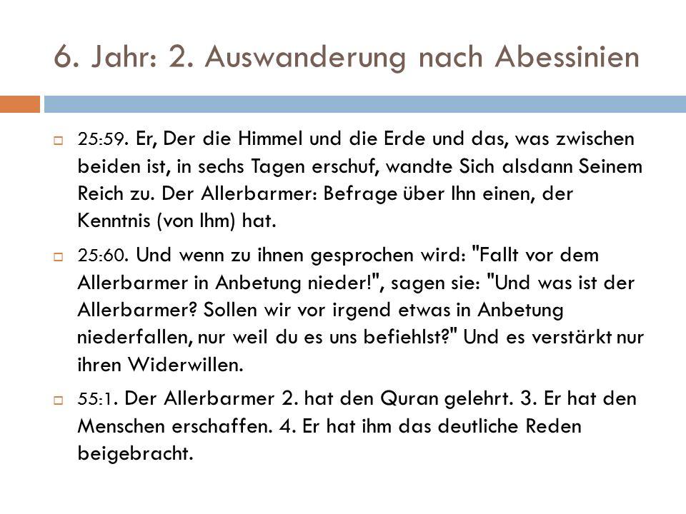 6. Jahr: 2. Auswanderung nach Abessinien  25:59.