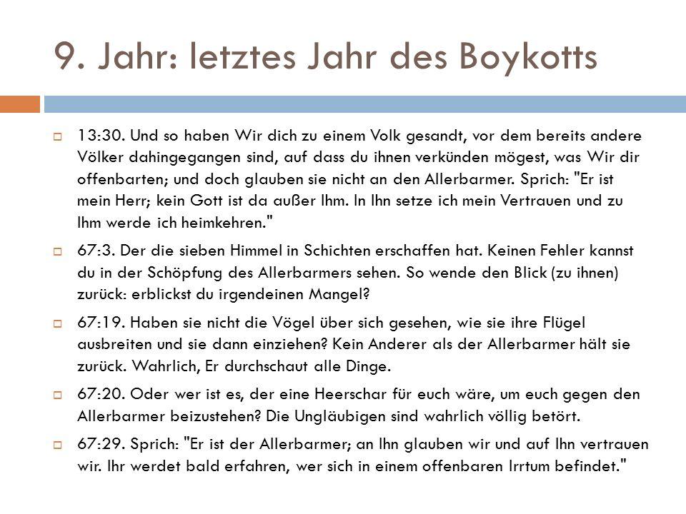 9. Jahr: letztes Jahr des Boykotts  13:30.