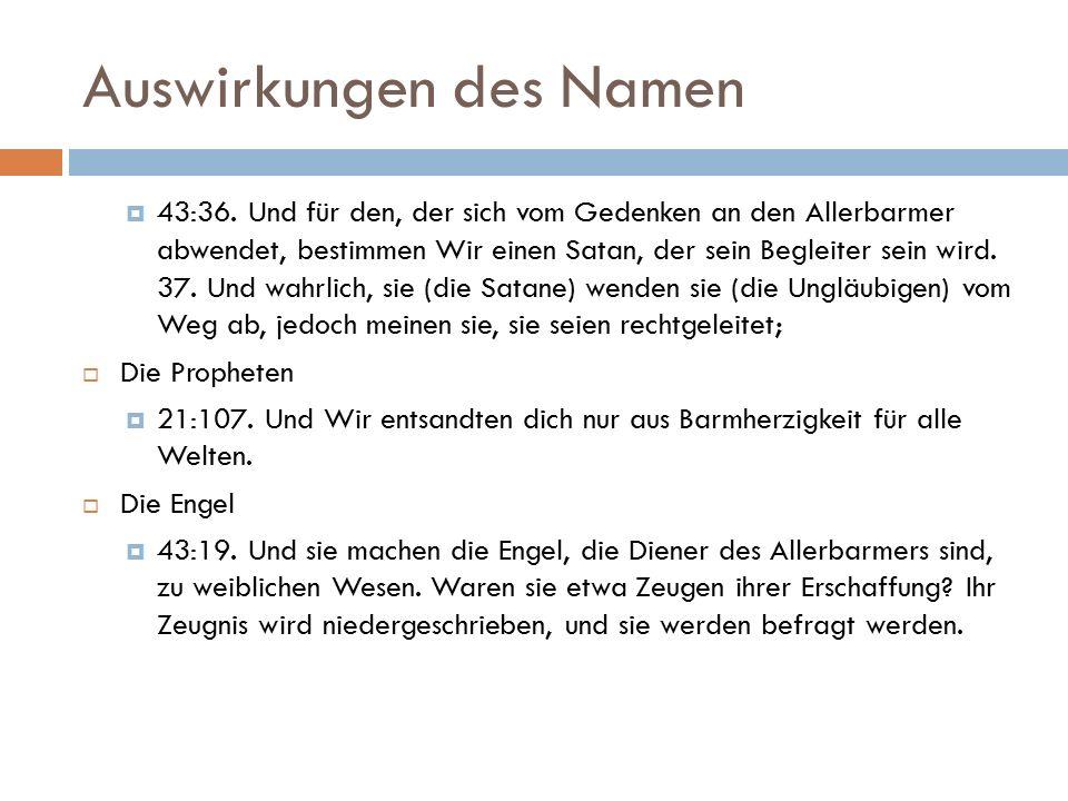 Auswirkungen des Namen  43:36.