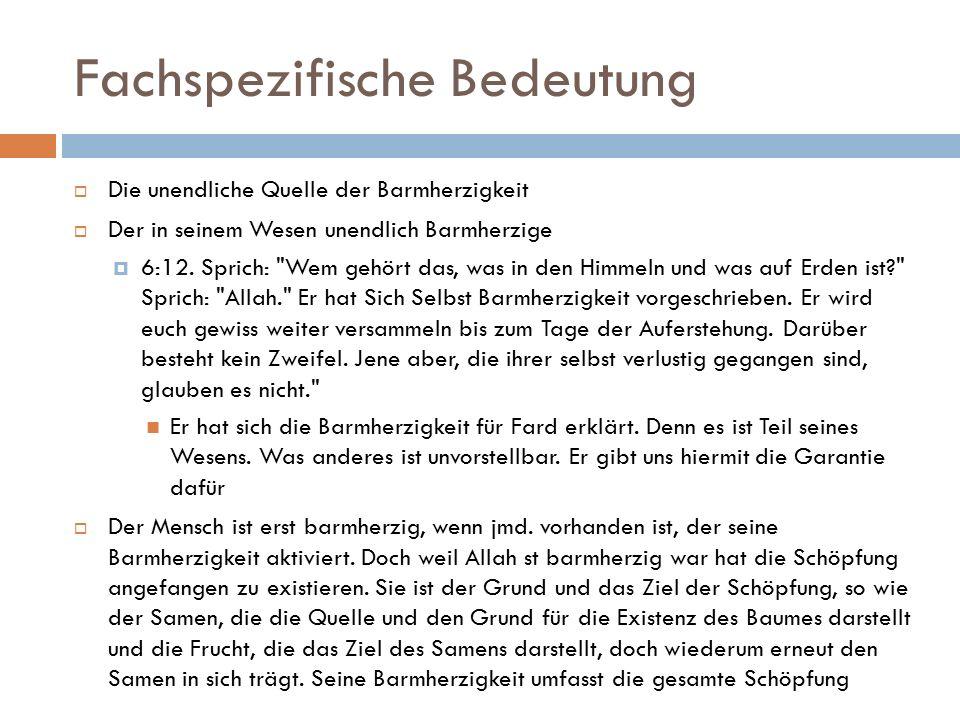 Auswirkungen des Namen  Allahs Autorität  20:5.