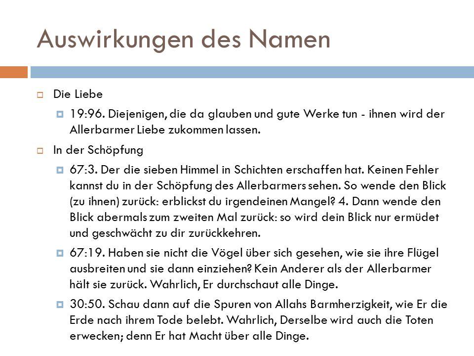 Auswirkungen des Namen  Die Liebe  19:96.