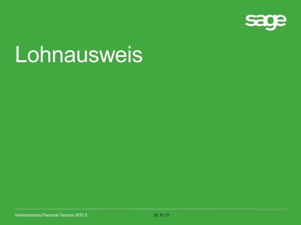 Lohnausweis 24.10.15Versionsnotes Personal Version 2015.0