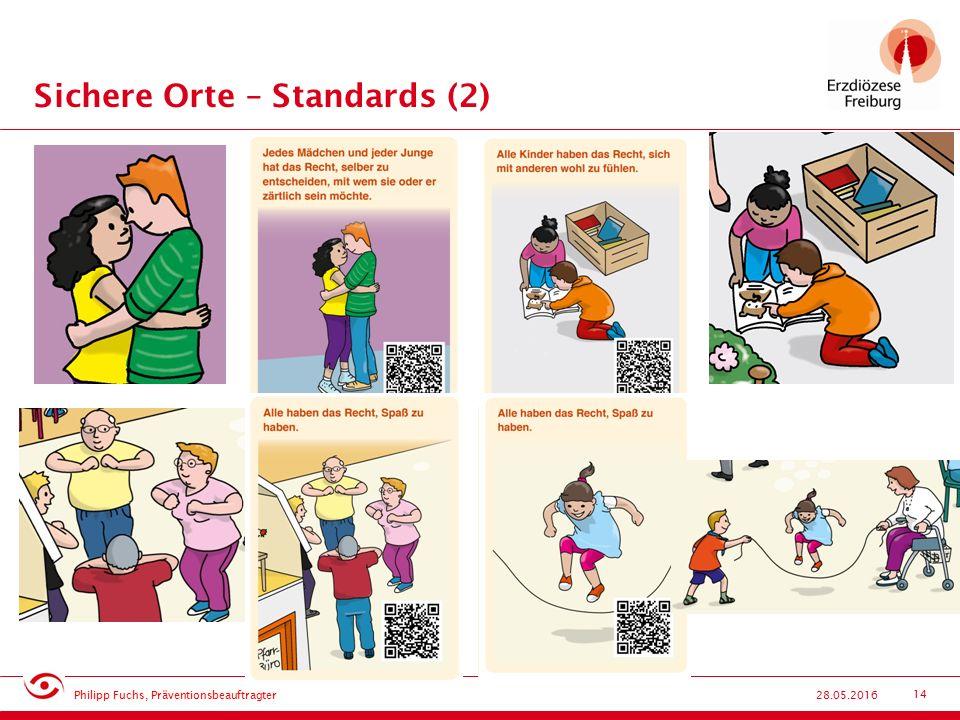 14 Sichere Orte – Standards (2) 28.05.2016 Philipp Fuchs, Präventionsbeauftragter