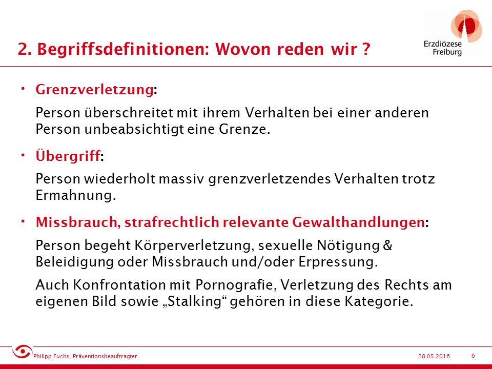 17 28.05.2016 7.Strukturen: Mitverantwortung der Institution .