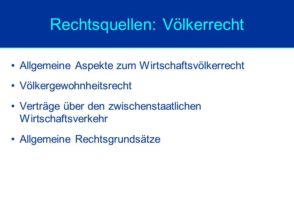 UNCITRAL Vorlage von Modellgesetzen, z.B.: –zu grenzüberschreitenden Insolvenzen (Model Law on Cross Border Insolvencies von 1997) –zum elektronischen Handel (Model Law on Electronic Commerce von 1996/98) –zu elektronischen Signaturen (Model Law on Electric Signatures von 2001)