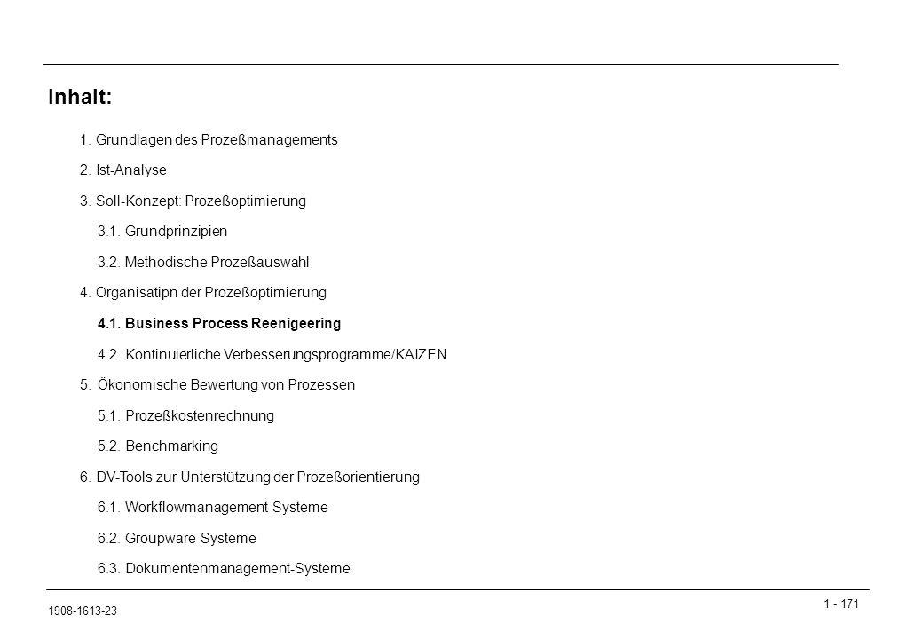 1 - 171 1908-1613-23 1.Grundlagen des Prozeßmanagements 2.