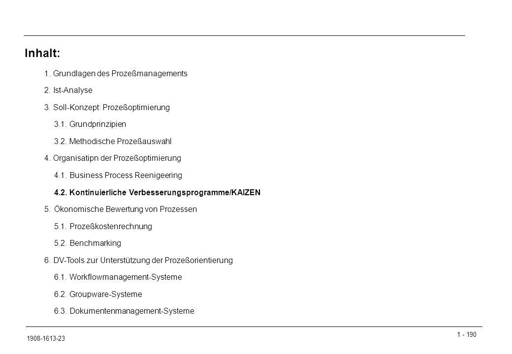 1 - 190 1908-1613-23 1.Grundlagen des Prozeßmanagements 2.