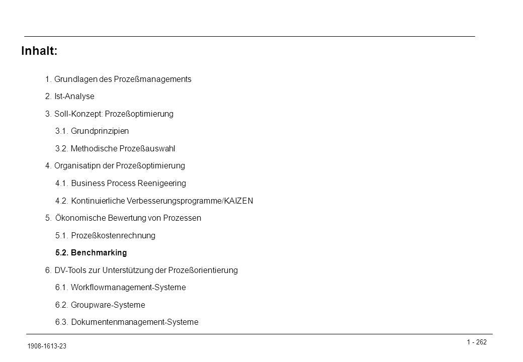 1 - 262 1908-1613-23 1.Grundlagen des Prozeßmanagements 2.