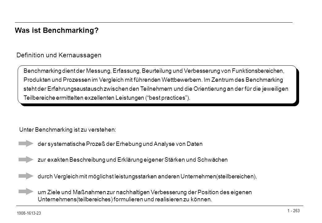1 - 263 1908-1613-23 Definition und Kernaussagen Was ist Benchmarking.