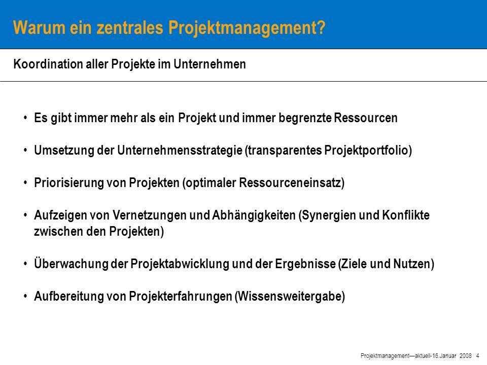 5 Projektmanagement—aktuell-16.Januar 2008 Ohne Regelwerk gibt es......