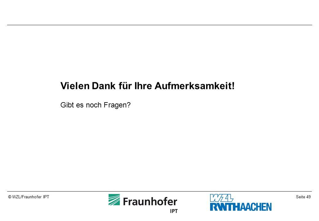 Seite 49© WZL/Fraunhofer IPT Vielen Dank für Ihre Aufmerksamkeit! Gibt es noch Fragen