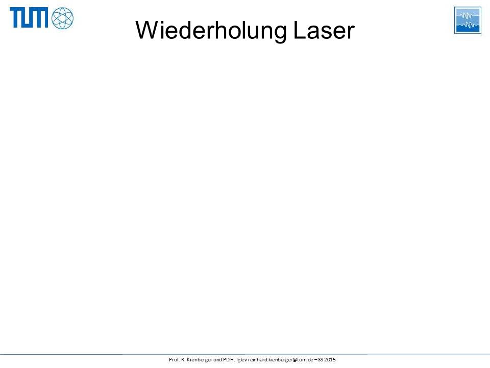 Wiederholung Laser