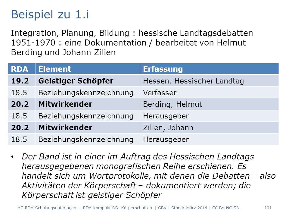 Beispiel zu 1.i Integration, Planung, Bildung : hessische Landtagsdebatten 1951-1970 : eine Dokumentation / bearbeitet von Helmut Berding und Johann Zilien Der Band ist in einer im Auftrag des Hessischen Landtags herausgegebenen monografischen Reihe erschienen.
