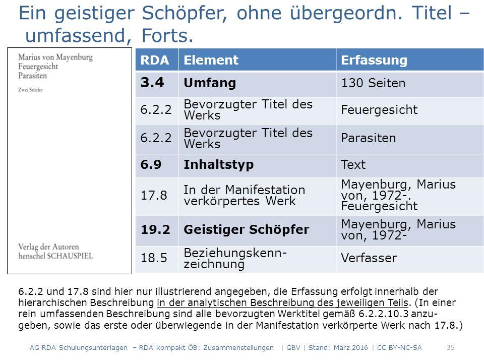 RDAElementErfassung 3.4 Umfang130 Seiten 6.2.2 Bevorzugter Titel des Werks Feuergesicht 6.2.2 Bevorzugter Titel des Werks Parasiten 6.9InhaltstypText 17.8 In der Manifestation verkörpertes Werk Mayenburg, Marius von, 1972-.