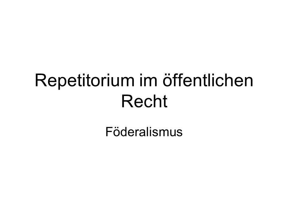 Repetitorium im öffentlichen Recht Föderalismus