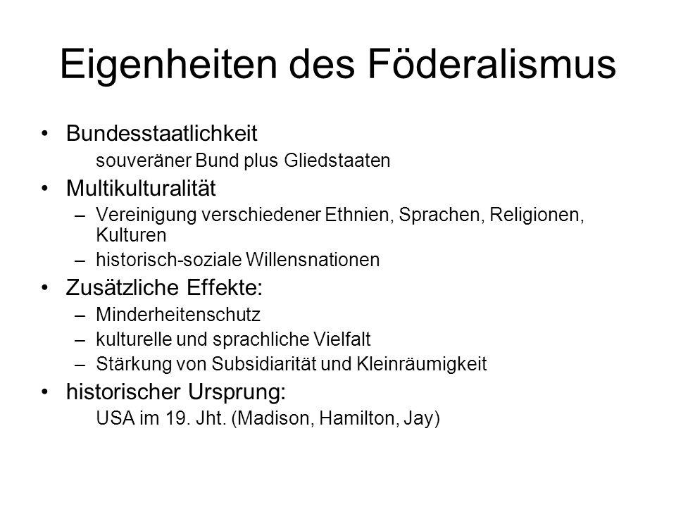 Föderalistische Kompetenzenordnung Kompetenzenhoheit bei Bund subsidiäre Generalkompetenz der Kantone (Art.