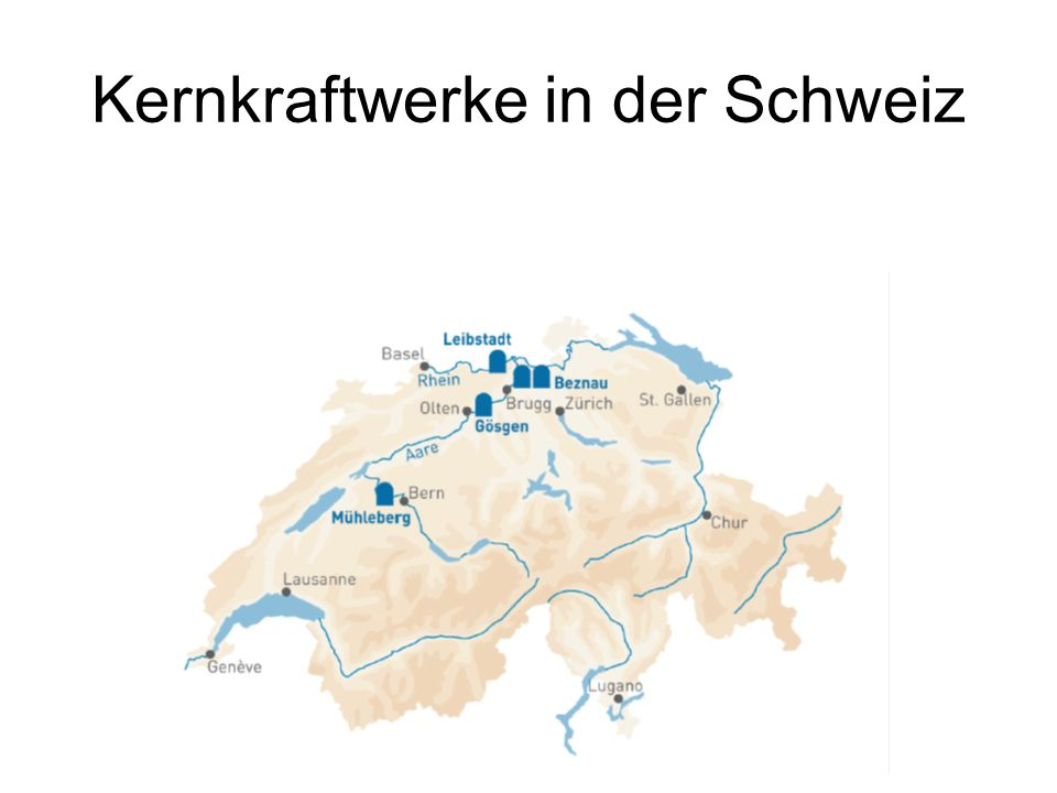 Kernkraftwerke in der Schweiz