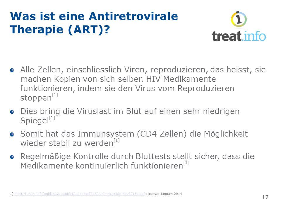 Was ist eine Antiretrovirale Therapie (ART).