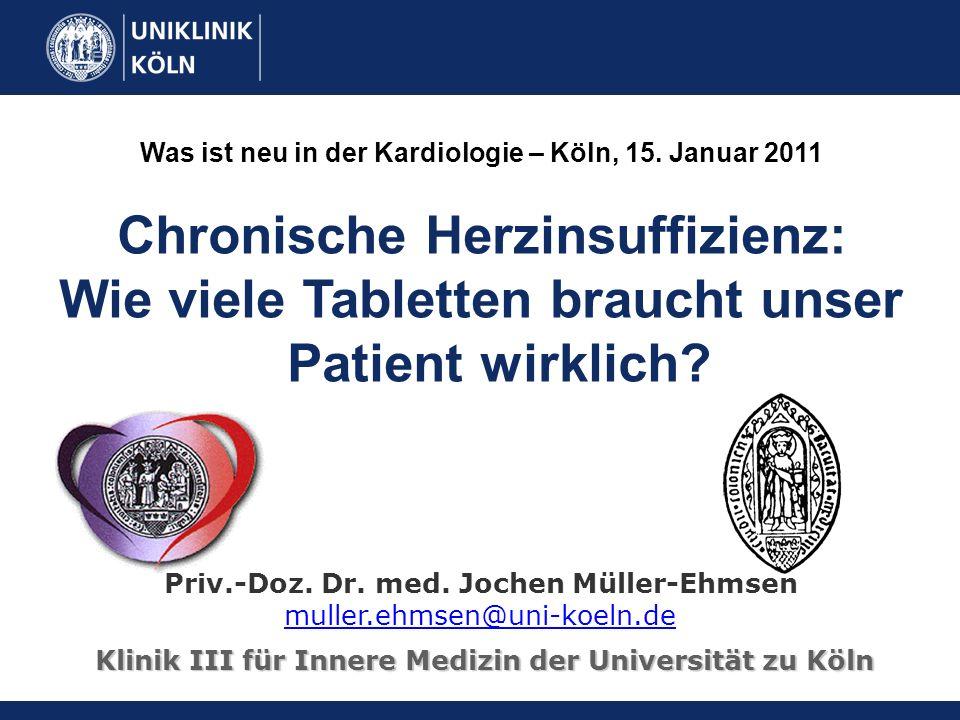 Chronische Herzinsuffizienz: Wie viele Tabletten braucht unser Patient wirklich.