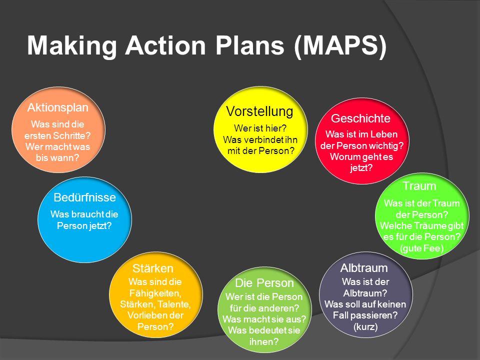 Making Action Plans (MAPS) Vorstellung Wer ist hier.