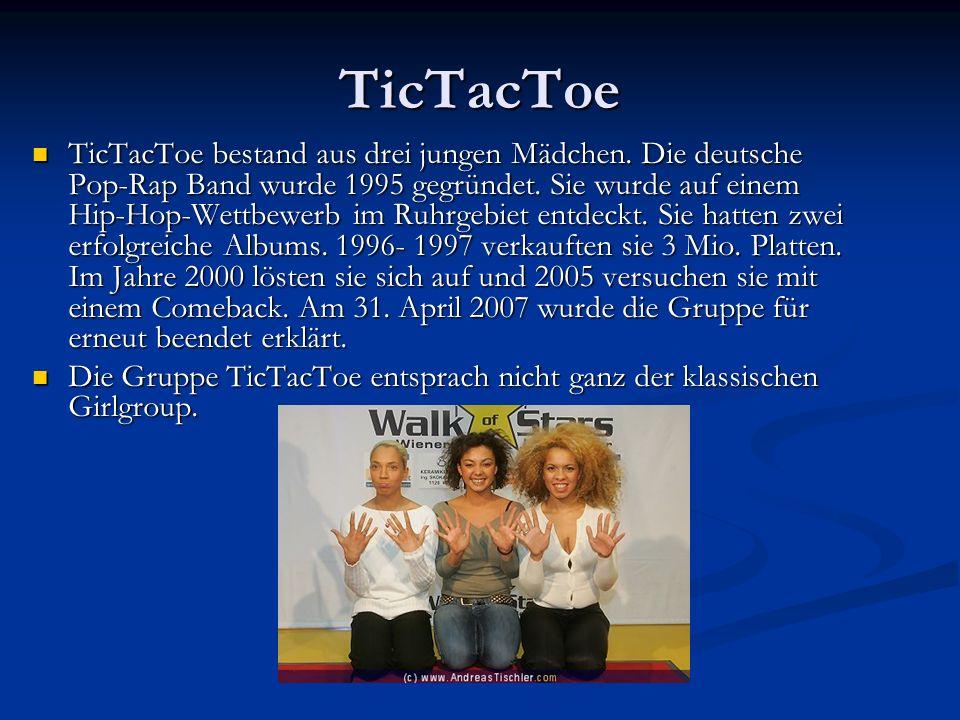 TicTacToe TicTacToe bestand aus drei jungen Mädchen.