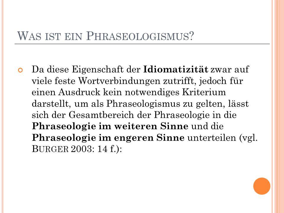 W AS IST EIN P HRASEOLOGISMUS .