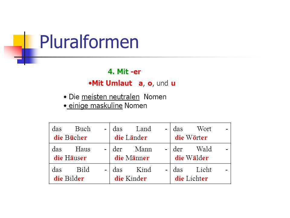 Pluralformen 4.
