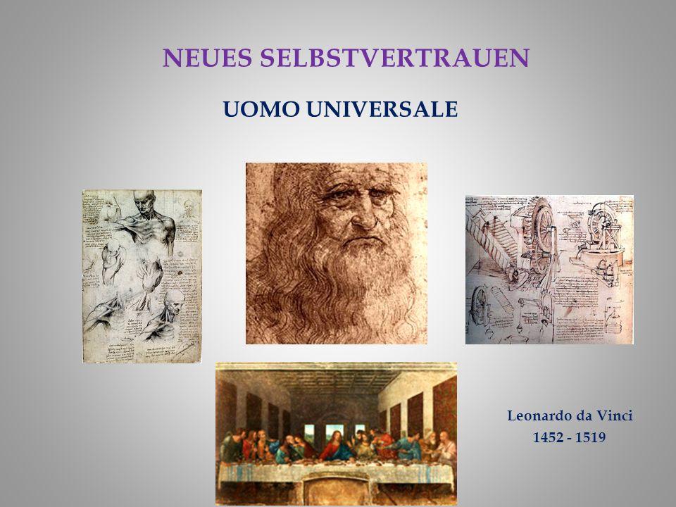 UOMO UNIVERSALE Leonardo da Vinci 1452 - 1519 NEUES SELBSTVERTRAUEN