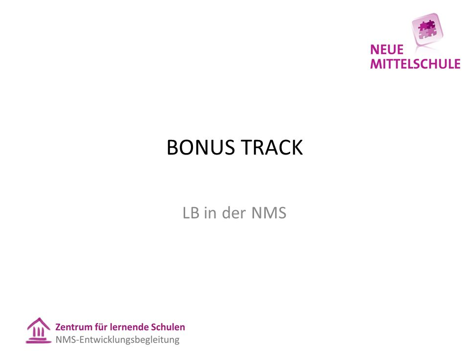 BONUS TRACK LB in der NMS