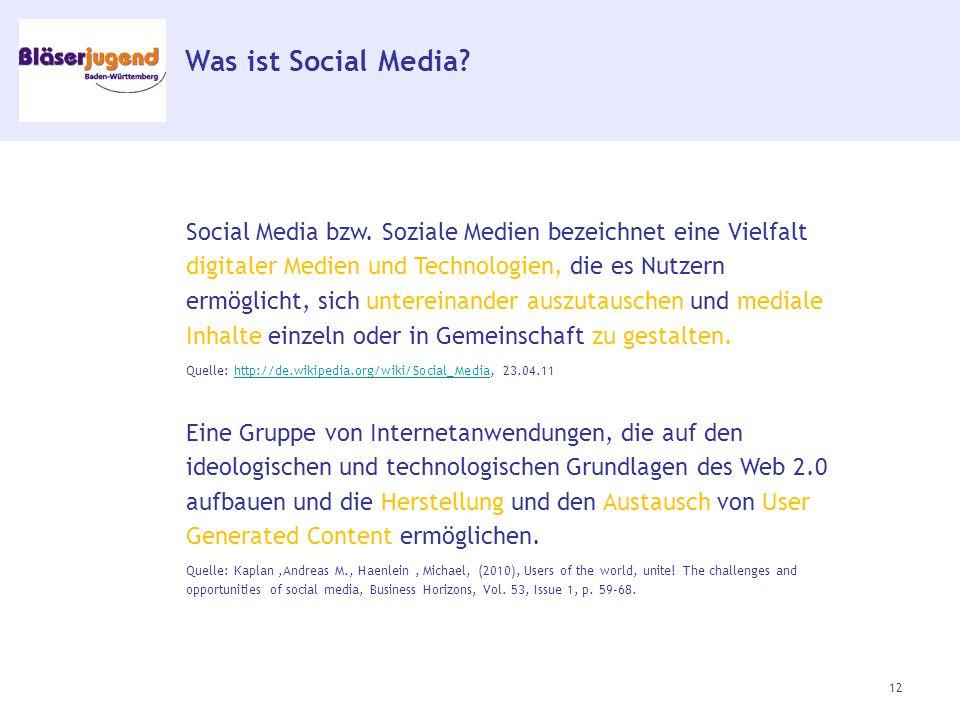 Was ist Social Media. Social Media bzw.