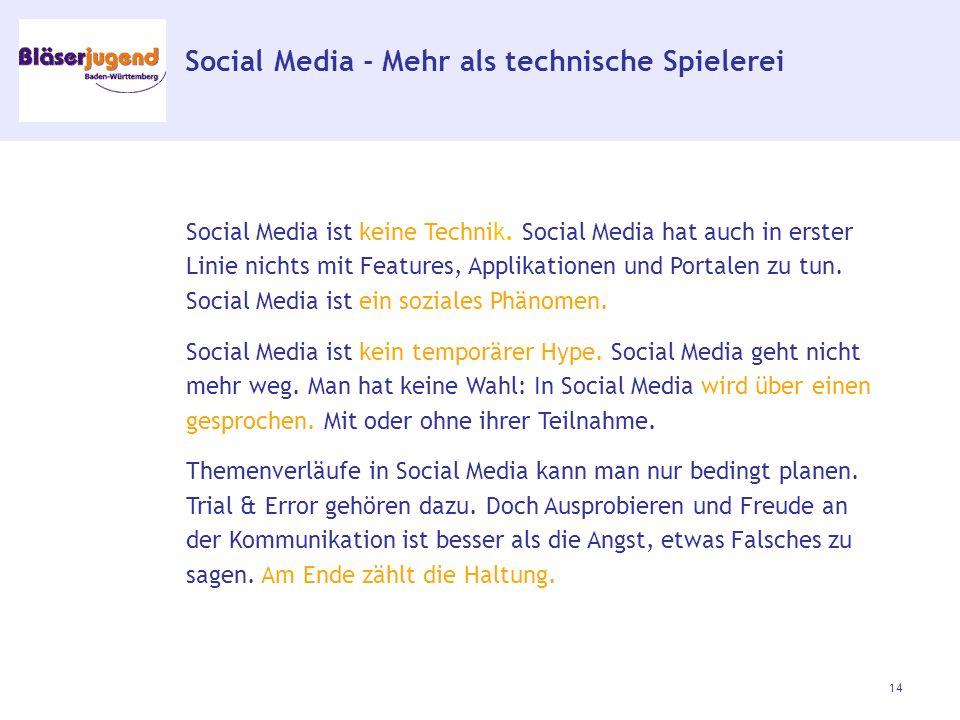 Social Media - Mehr als technische Spielerei Social Media ist keine Technik.
