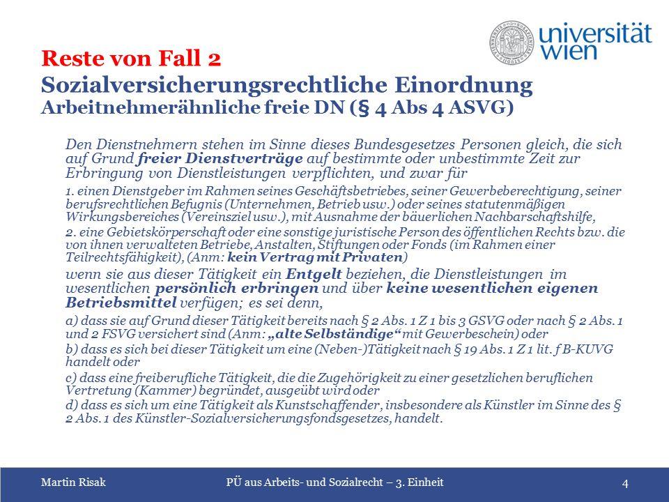 Martin RisakPÜ aus Arbeits- und Sozialrecht – 3.
