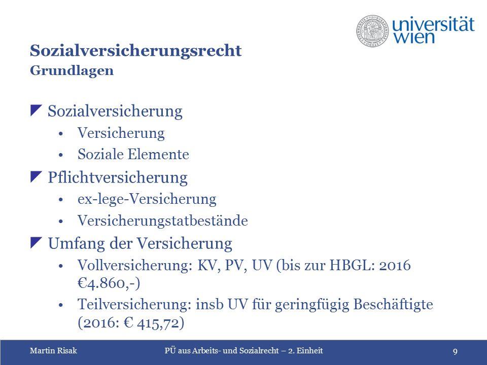 Martin RisakPÜ aus Arbeits- und Sozialrecht – 2.
