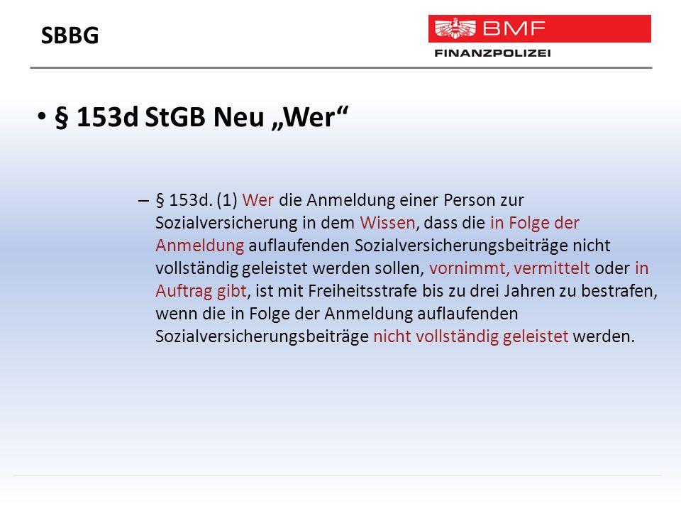 """§ 153d StGB Neu """"Wer – § 153d."""