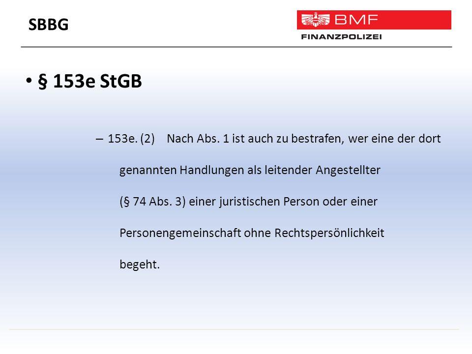 § 153e StGB – 153e. (2) Nach Abs.