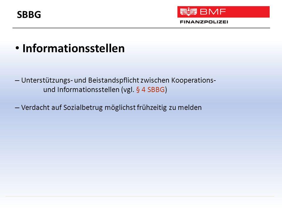 Informationsstellen – Unterstützungs- und Beistandspflicht zwischen Kooperations- und Informationsstellen (vgl.