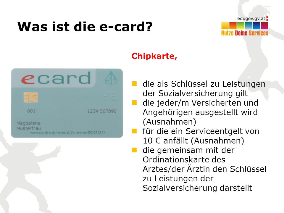 Was ist die e-card.