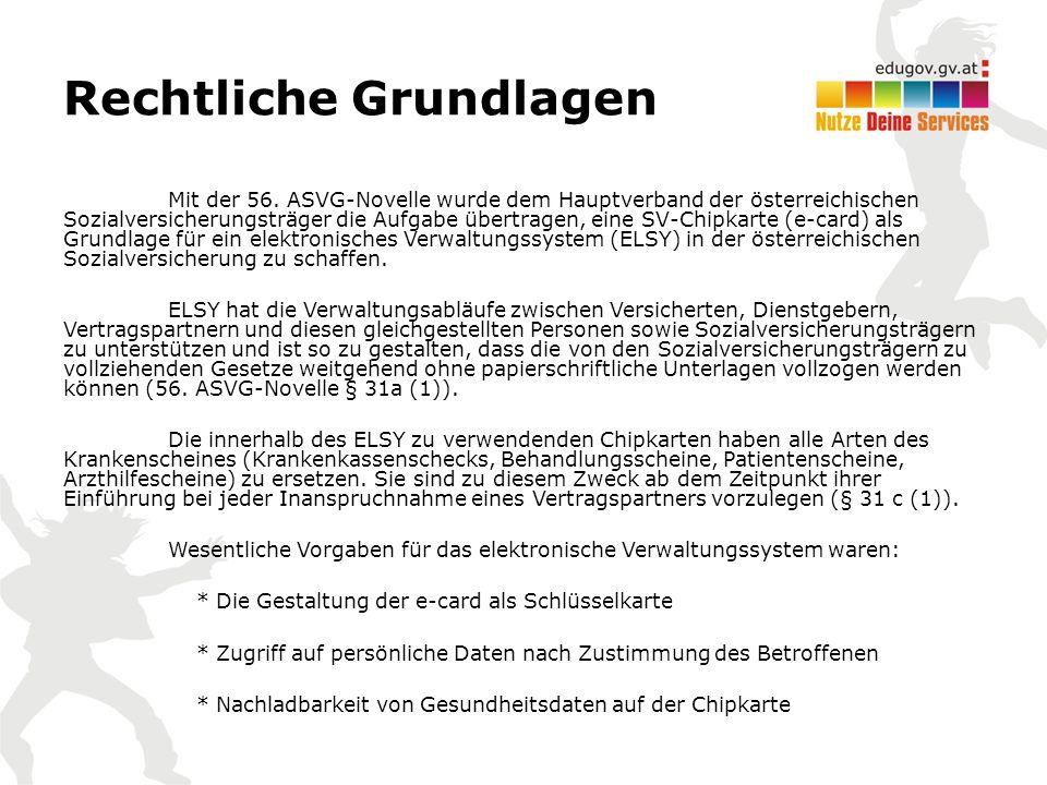 Rechtliche Grundlagen Mit der 56.