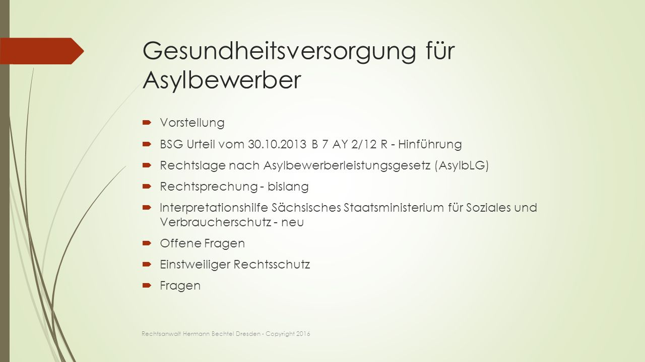 Hermann Bechtel seit 1990 im Gesundheitswesen tätig, Erstzulassung als Rechtsanwalt in 2010 Rechtsanwalt Hermann Bechtel Dresden - Copyright 2016