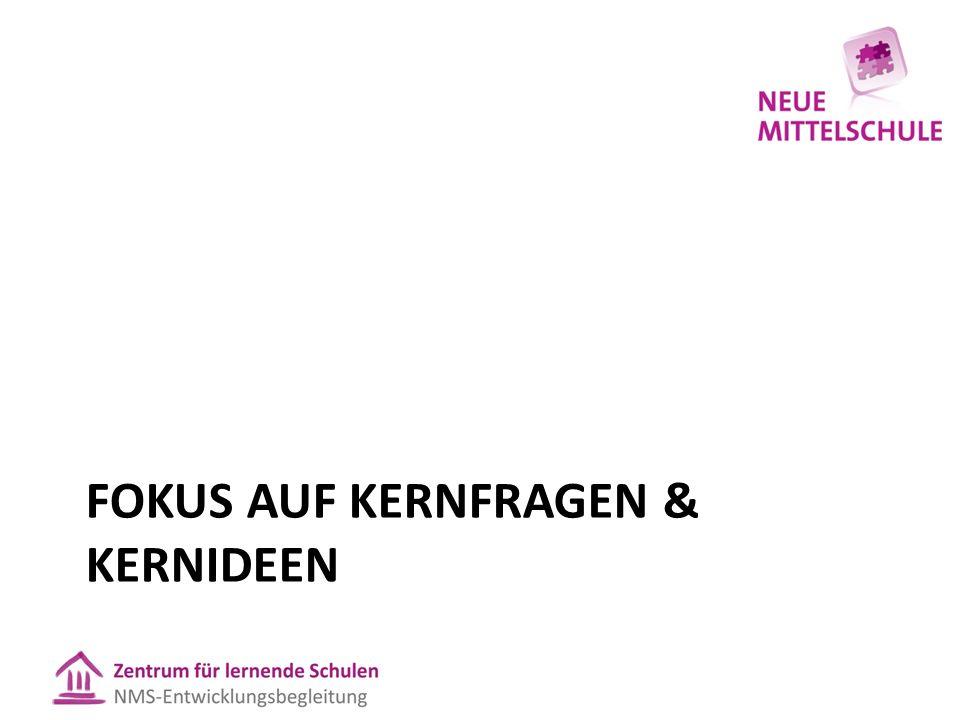 FOKUS AUF KERNFRAGEN & KERNIDEEN